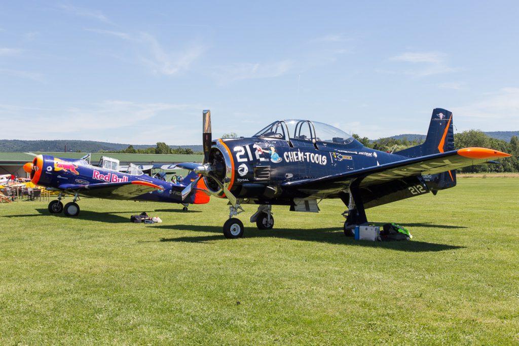 Airshow Gelnhausen 2017 - North American T-6 und der T28 Trojan