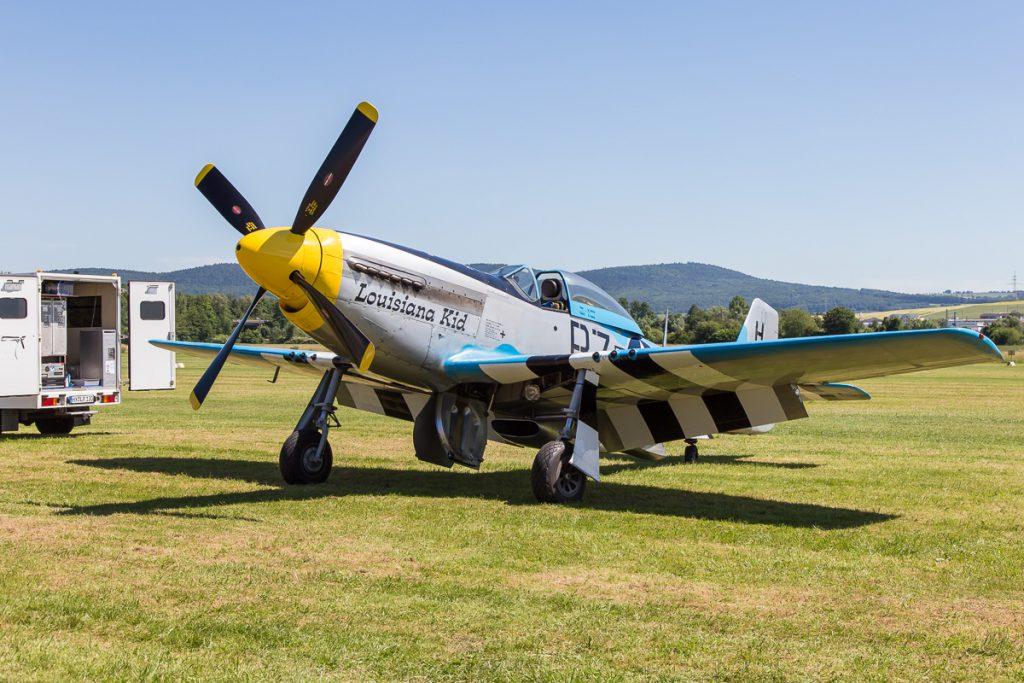 """Airshow Gelnhausen 2017 - Mustang P51 """"Louisiana Kid"""""""